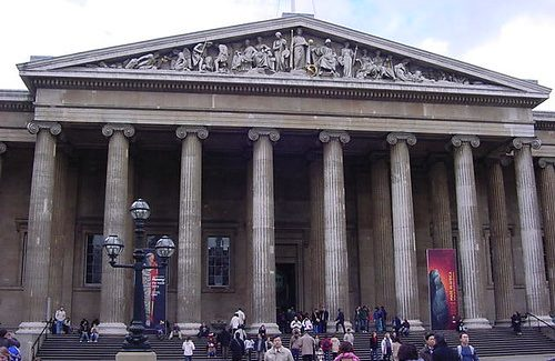 Front entrance of the British Museum