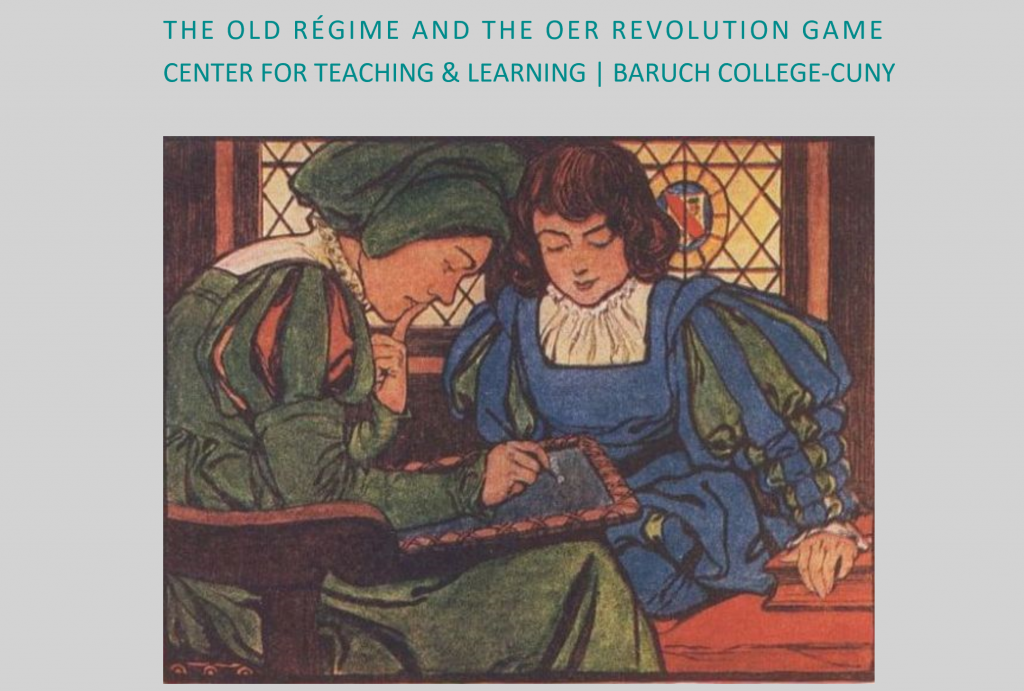 Screenshot of the title screen of the Old Régime and the OER Revolution game